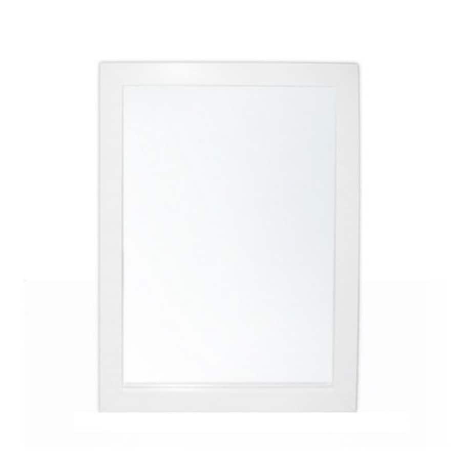 Simpli Home Chelsea 22-in W x 30-in H White Rectangular Bathroom Mirror