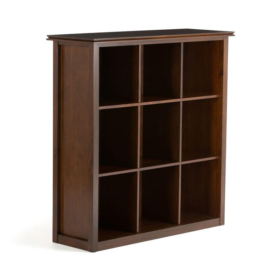 Simpli Home Artisan Medium Auburn Brown 44-in W x 46-in H x 15.8-in D 0-Shelf Bookcase