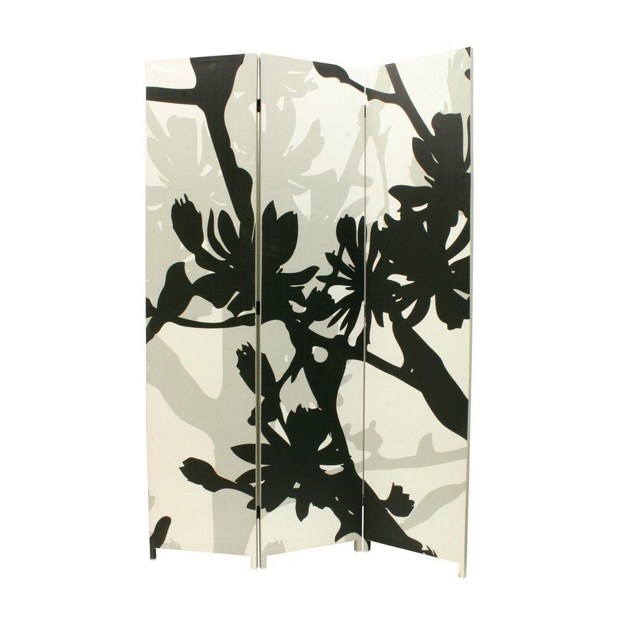 Nexxt Designs Bota 3-Panel Black/Taupe Frameless Cotton Folding Indoor Privacy Screen