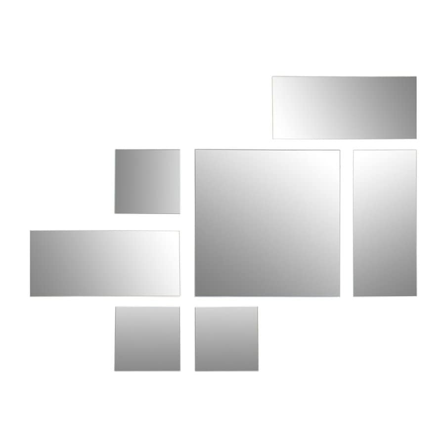 Nexxt Designs Mex 8-in x 8-in Beveled Rectangle Frameless Contemporary Wall Mirror