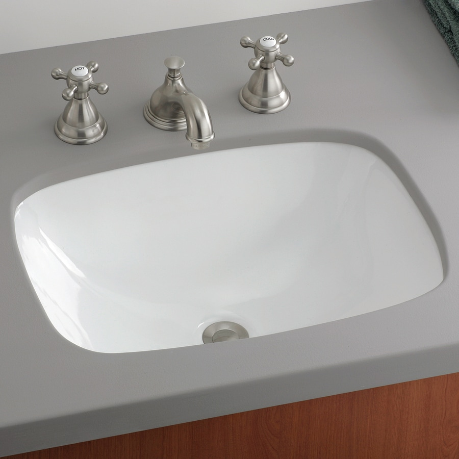Shop Cheviot Ibiza White Undermount Rectangular Bathroom Sink At