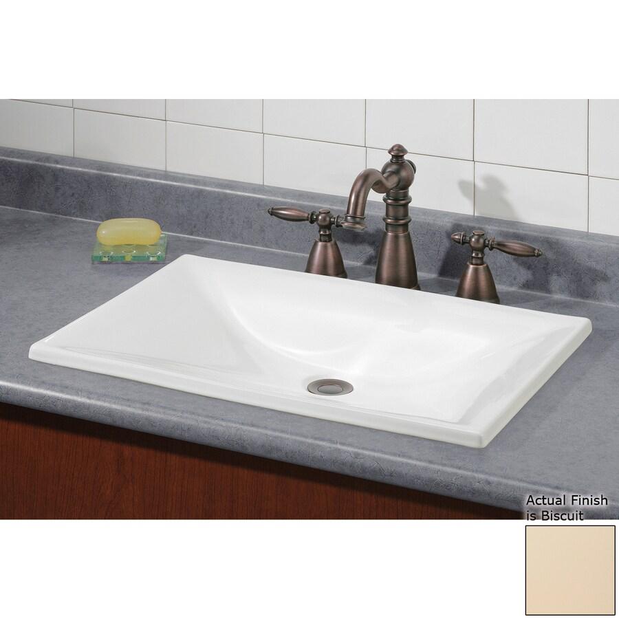 Cheviot Estoril Biscuit Drop-in Rectangular Bathroom Sink