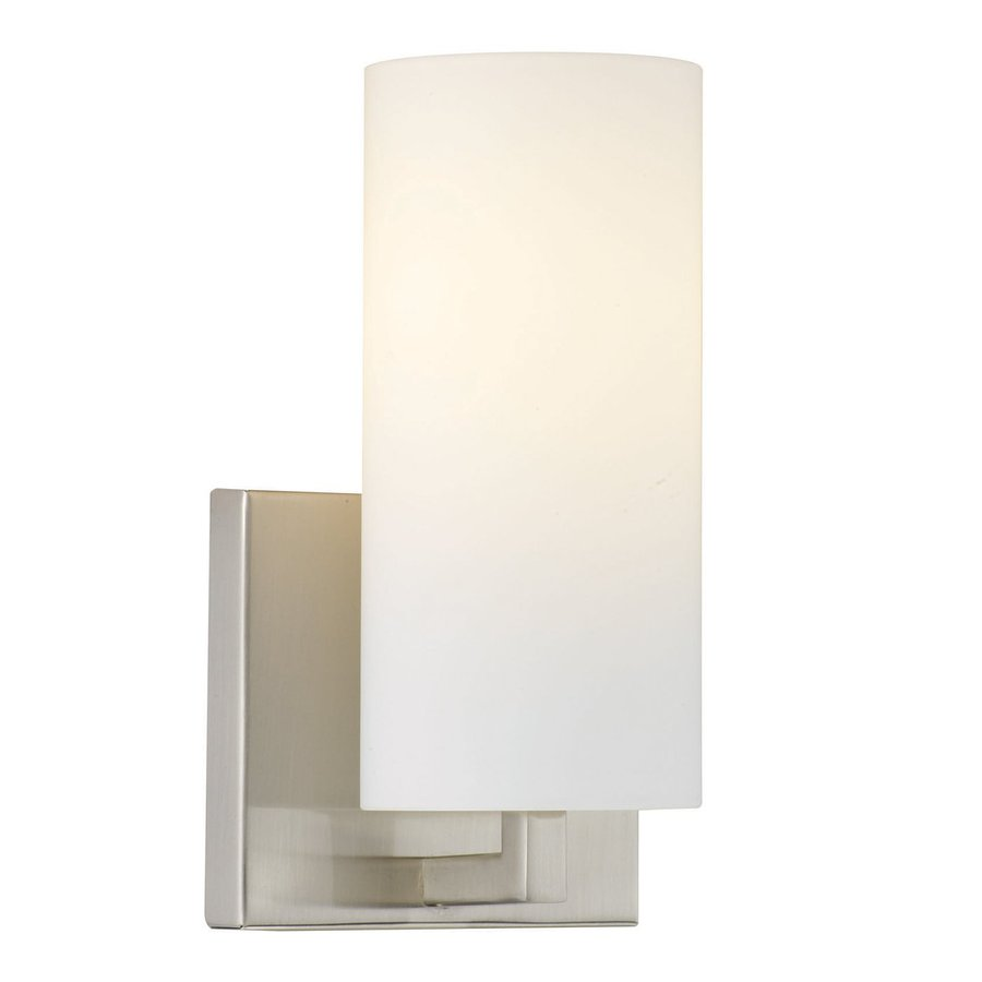 Philips Cambria 4.5-in W 1-Light Satin Nickel Pocket Hardwired Wall Sconce