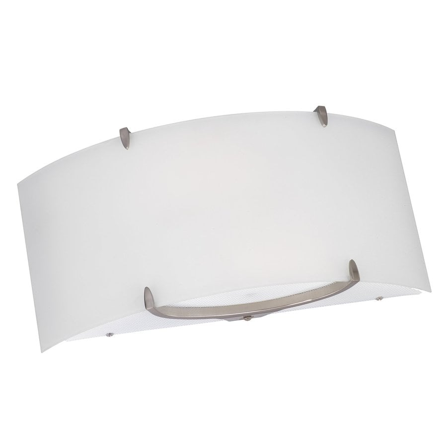 Philips Edge Bow 16-in W 1-Light Satin Nickel Pocket Hardwired Wall Sconce