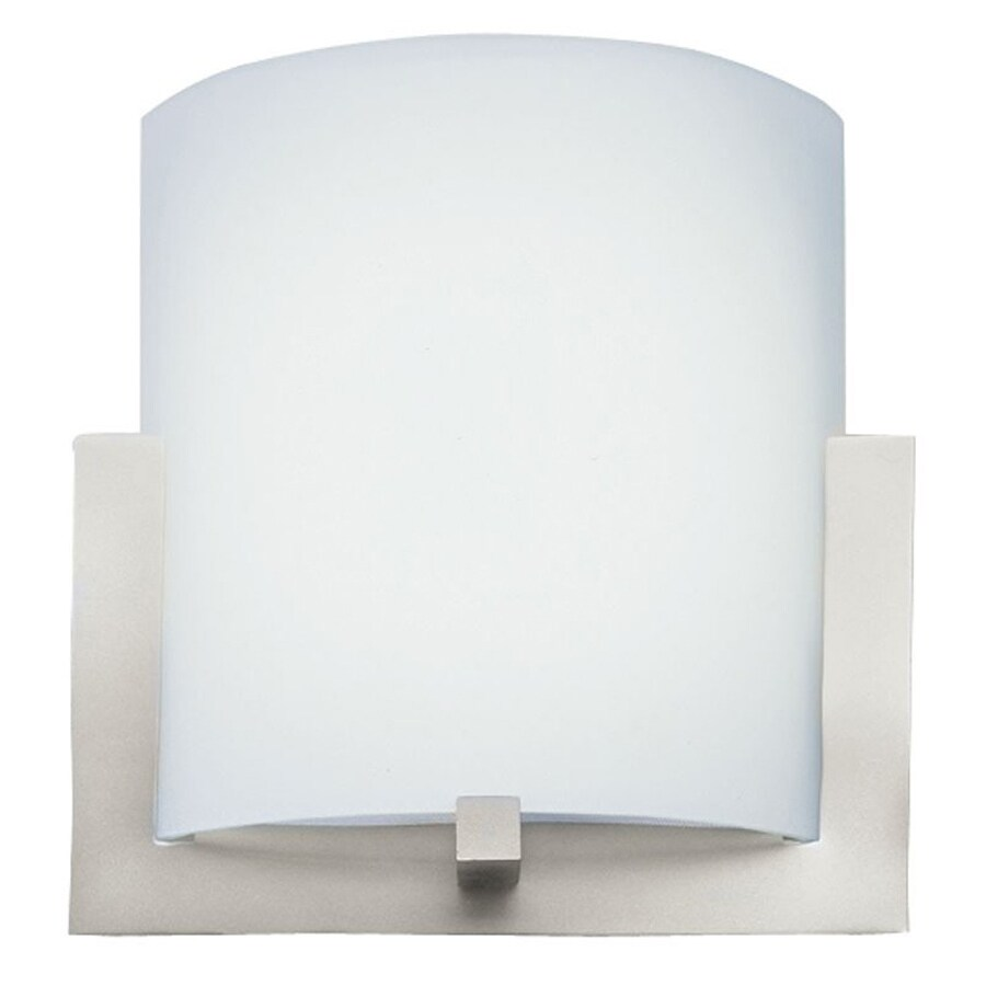 Philips 12-in W 1-Light Satin Nickel Pocket Hardwired Wall Sconce