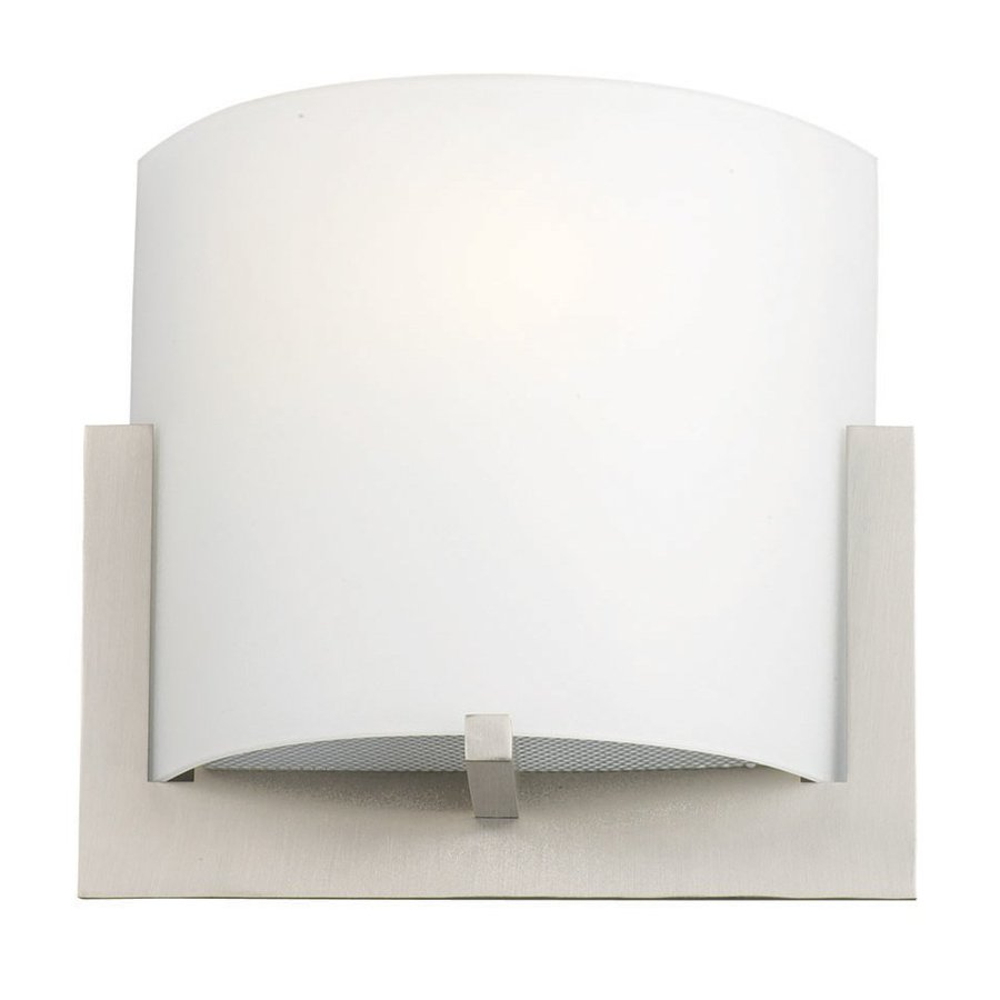 Philips 7.125-in W 1-Light Satin Nickel Pocket Hardwired Wall Sconce