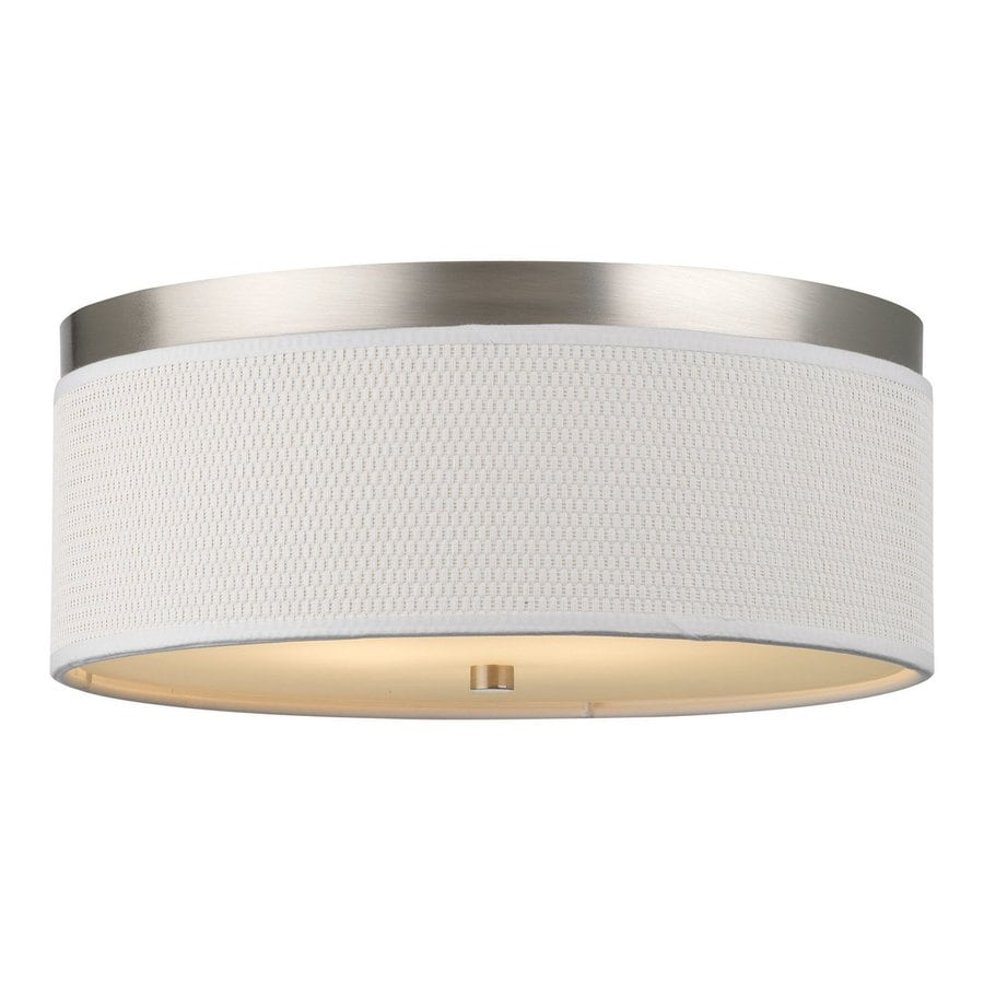 Philips Cassandra 14.875-in W Satin Nickel Ceiling Flush Mount Light
