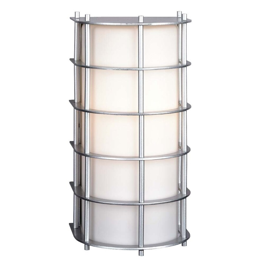 Philips Hollywood Hills 11-in H Vista Silver Outdoor Wall Light
