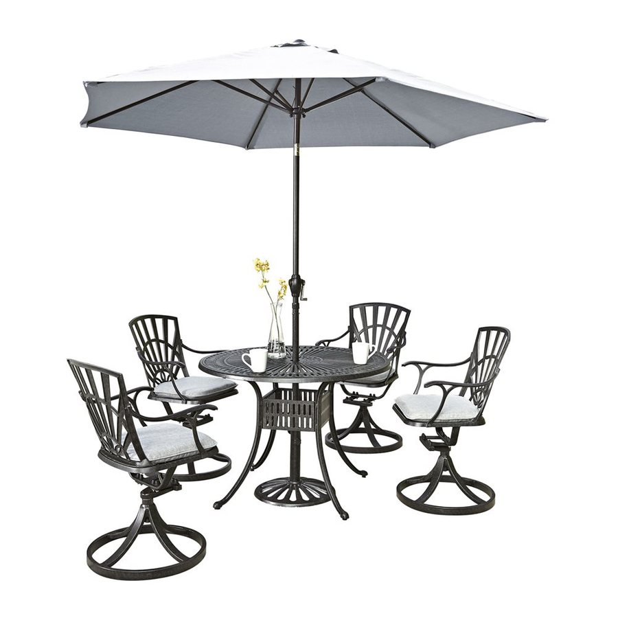 Home Styles Largo 6-Piece Charcoal Aluminum Patio Dining Set