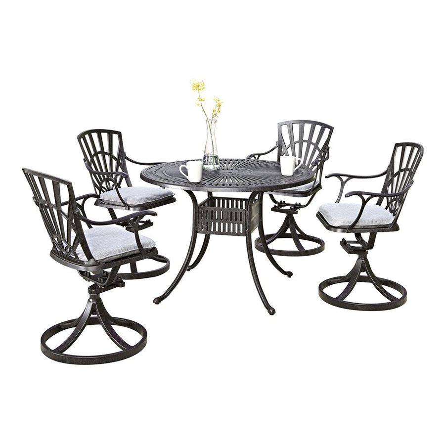 Home Styles Largo 5-Piece Charcoal Aluminum Patio Dining Set