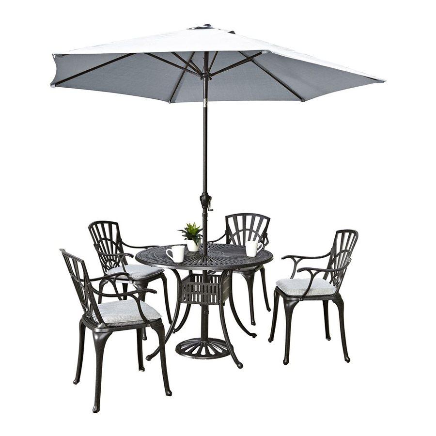 Home Styles Largo 6-Piece Charcoal Aluminum Patio Dining Set