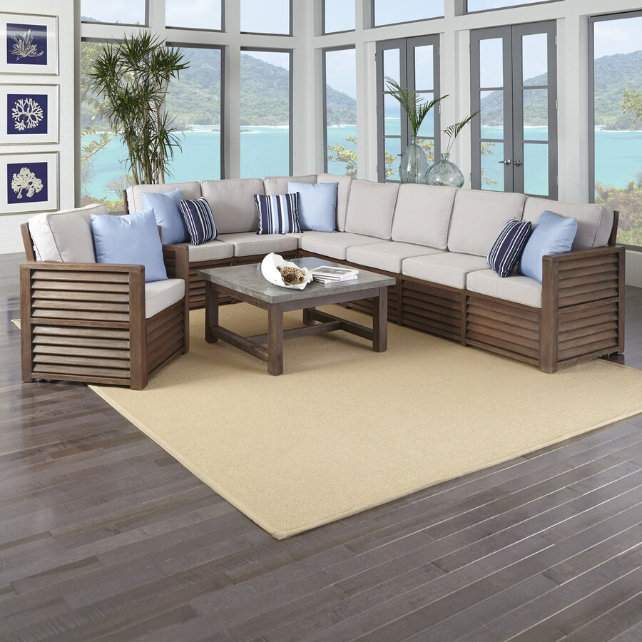 Home Styles Barnside 3-Piece Shorea Patio Conversation Set