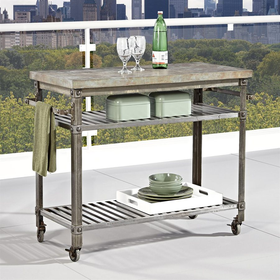 Urban Metal Kitchen Cart: Shop Home Styles Urban Style Aged Metal Outdoor Serving