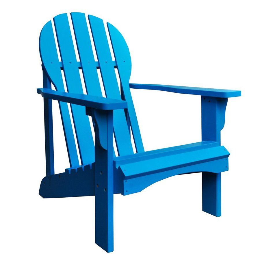 Shine Company Captiva Turquoise Cedar Patio Adirondack Chair