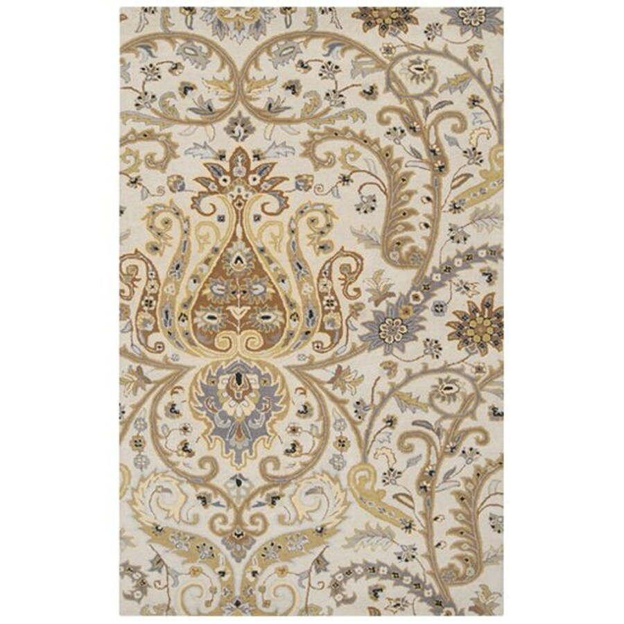 Surya Ancient Treasures Taupe Rectangular Indoor Tufted Oriental Area Rug (Common: 5 x 8; Actual: 60-in W x 96-in L)