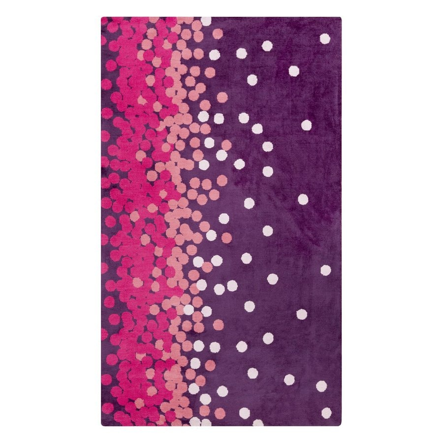 Surya Abigail Pink/Purple Rectangular Indoor Machine-Made Area Rug (Common: 5-ft x 8-ft; Actual: 5-ft W x 8-ft L)