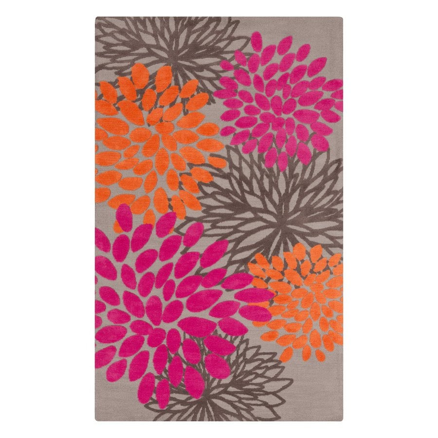 Surya Abigail Neutral/Pink Rectangular Indoor Machine-Made Nature Area Rug (Common: 5-ft x 8-ft; Actual: 5-ft W x 8-ft L)
