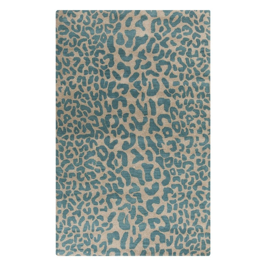 Surya Athena Green Rectangular Indoor Tufted Animals Area Rug (Common: 5-ft x 8-ft; Actual: 5-ft W x 8-ft L)