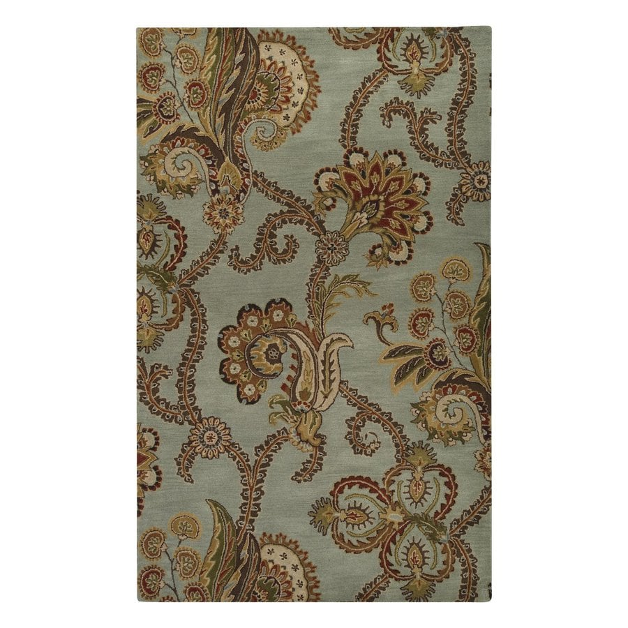 Surya Aurora Slate Gray Rectangular Indoor Tufted Nature Area Rug (Common: 8-ft x 11-ft; Actual: 8-ft W x 11-ft L)
