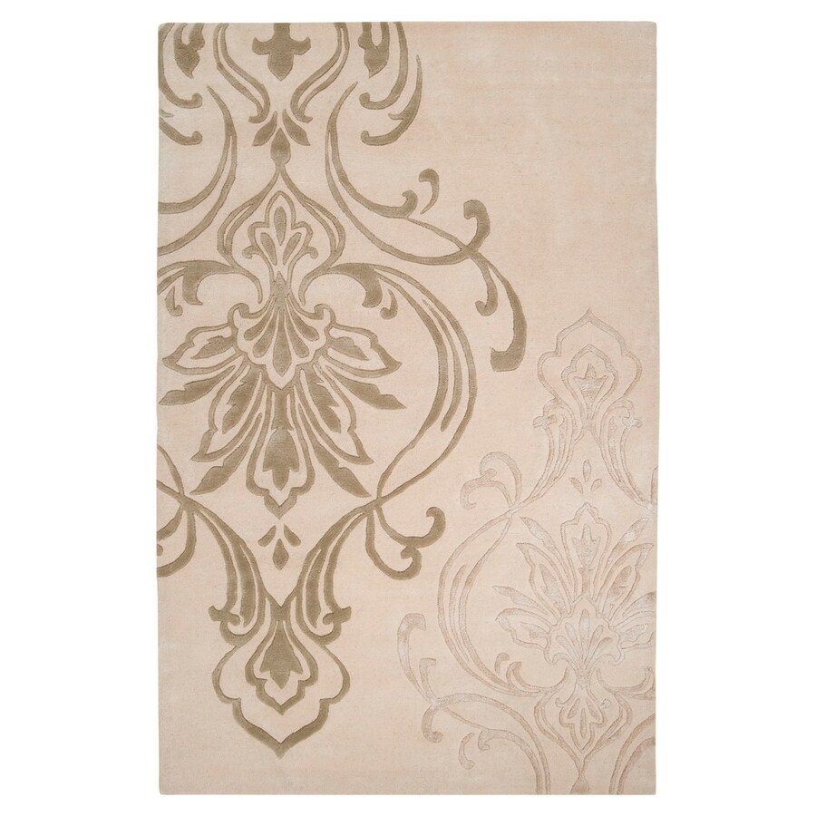 Surya Modern Classics Ivory Rectangular Indoor Tufted Area Rug (Common: 8 x 11; Actual: 96-in W x 132-in L)