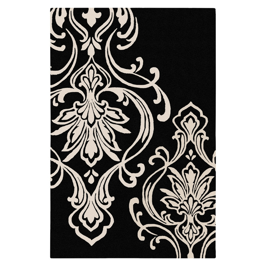Surya Modern Classics Black Rectangular Indoor Tufted Area Rug (Common: 5-ft x 8-ft; Actual: 5-ft W x 8-ft L)