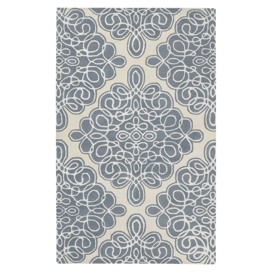 Surya Modern Classics Slate Blue Rectangular Indoor Tufted Area Rug (Common: 5-ft x 8-ft; Actual: 5-ft W x 8-ft L)