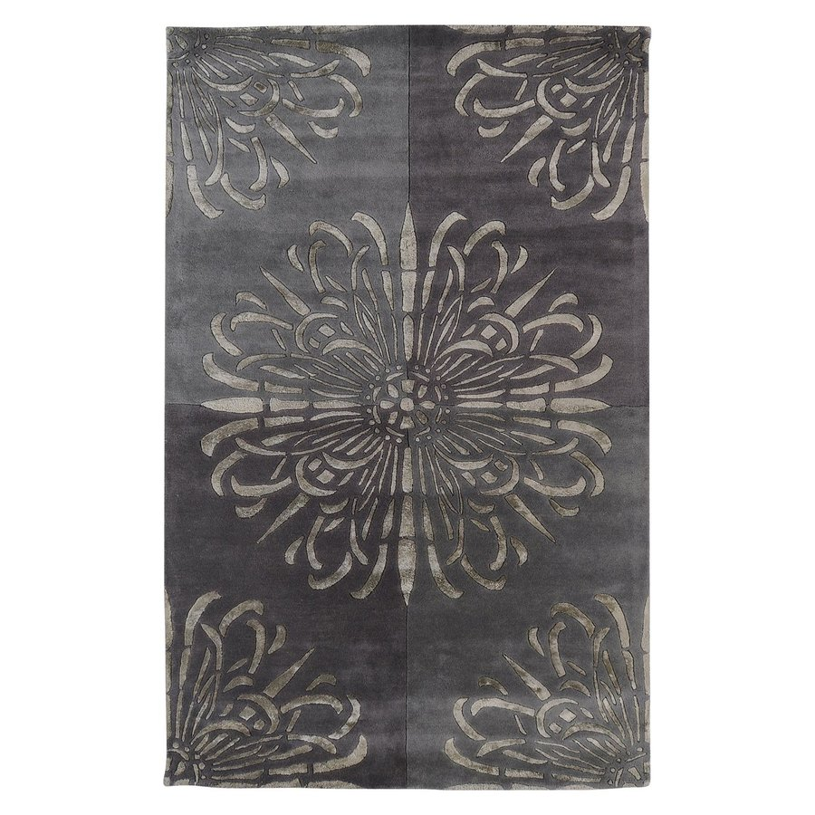 Surya Essence Grey Rectangular Indoor Tufted Area Rug (Common: 8-ft x 11-ft; Actual: 8-ft W x 11-ft L)