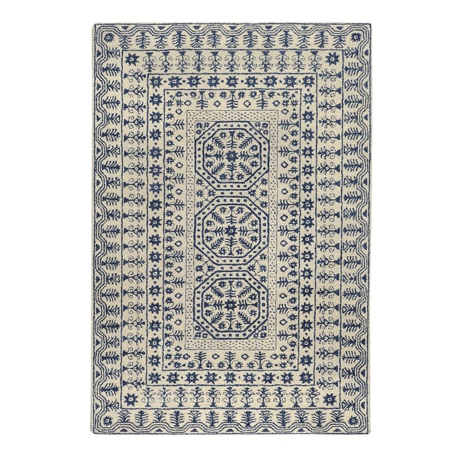 Surya Smithsonian Ivory Rectangular Indoor Tufted Area Rug (Common: 5-ft x 8-ft; Actual: 5-ft W x 8-ft L)