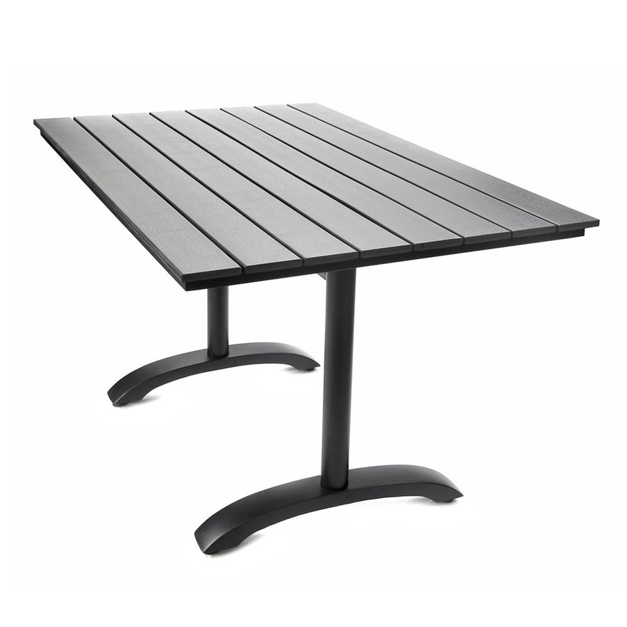 Jordan Manufacturing Canyon 31.5-in W x 47.2-in L Rectangle Aluminum Dining Table
