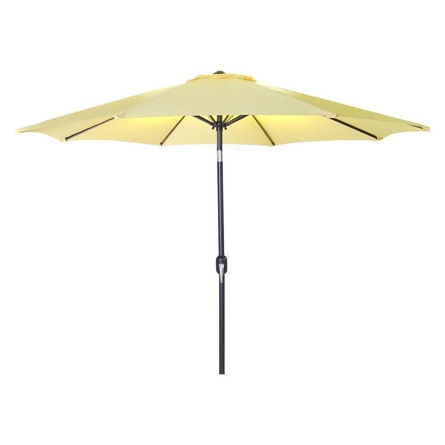 Jordan Manufacturing Canary Yellow Market Patio Umbrella (Common: 9-ft W x 9-ft L; Actual: 9-ft W x 9-ft L)