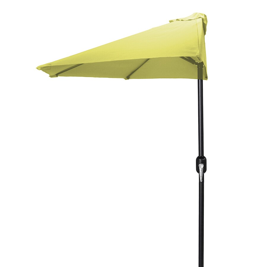 Jordan Manufacturing Canary Yellow Market Patio Umbrella (Common: 4-ft W x 7-ft L; Actual: 3.84-ft W x 7.17-ft L)