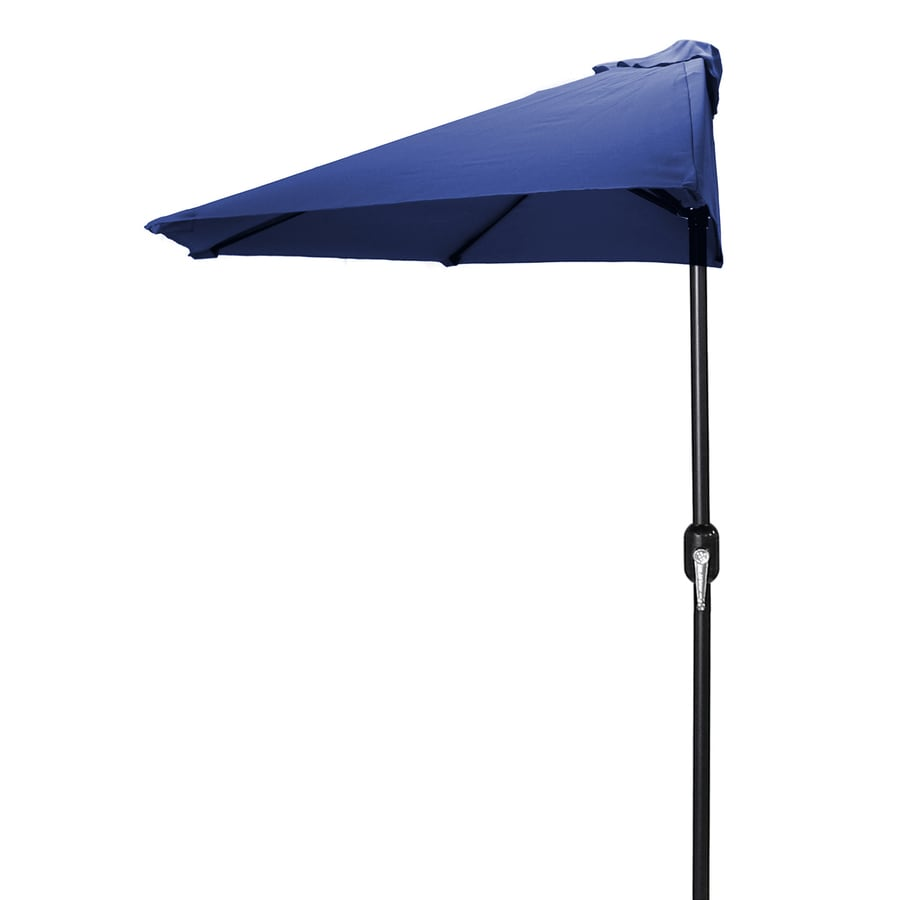 Jordan Manufacturing Navy Market Patio Umbrella (Common: 4-ft W x 7-ft L; Actual: 3.84-ft W x 7.17-ft L)