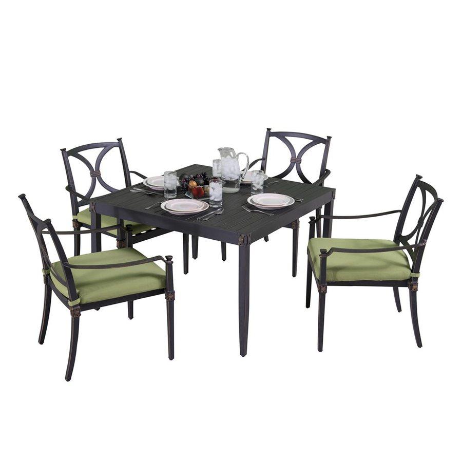 RST Brands Astoria 5-Piece Charcoal Aluminum Patio Dining Set