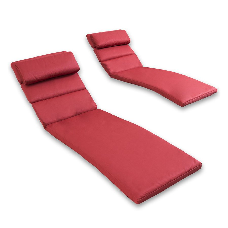 RST Brands Cantina Red Solid Cushion for Chaise Lounge