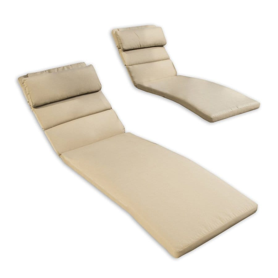 RST Brands Delano Beige Solid Cushion for Chaise Lounge