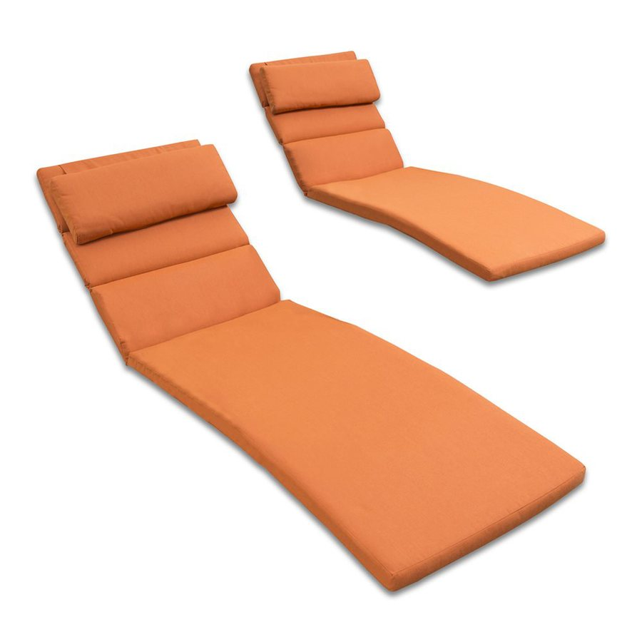RST Brands Tikka Orange Solid Cushion for Chaise Lounge