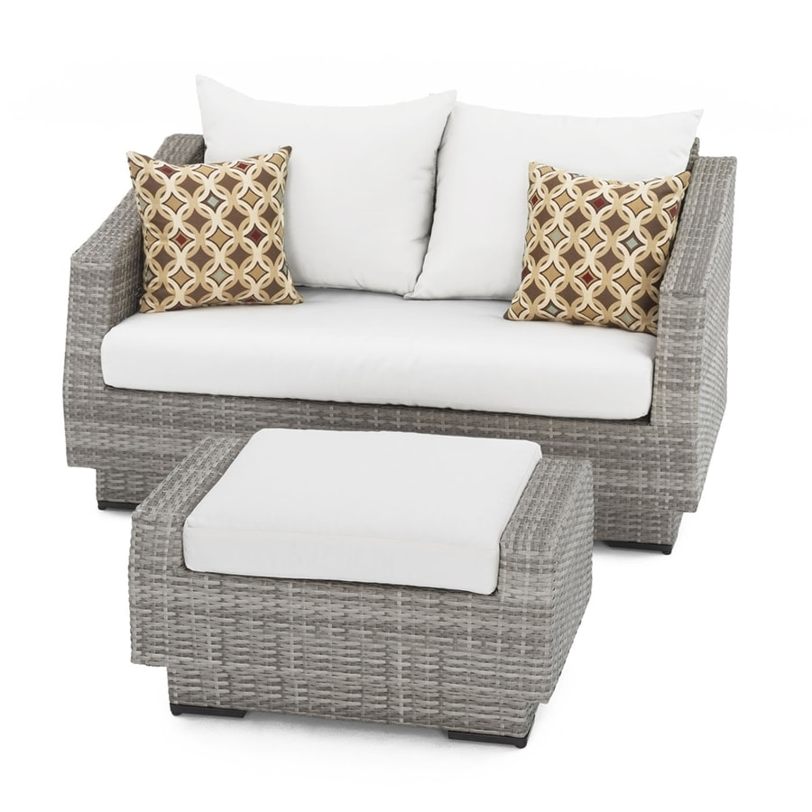 RST Brands Cannes 2-Piece Wicker Patio Conversation Set
