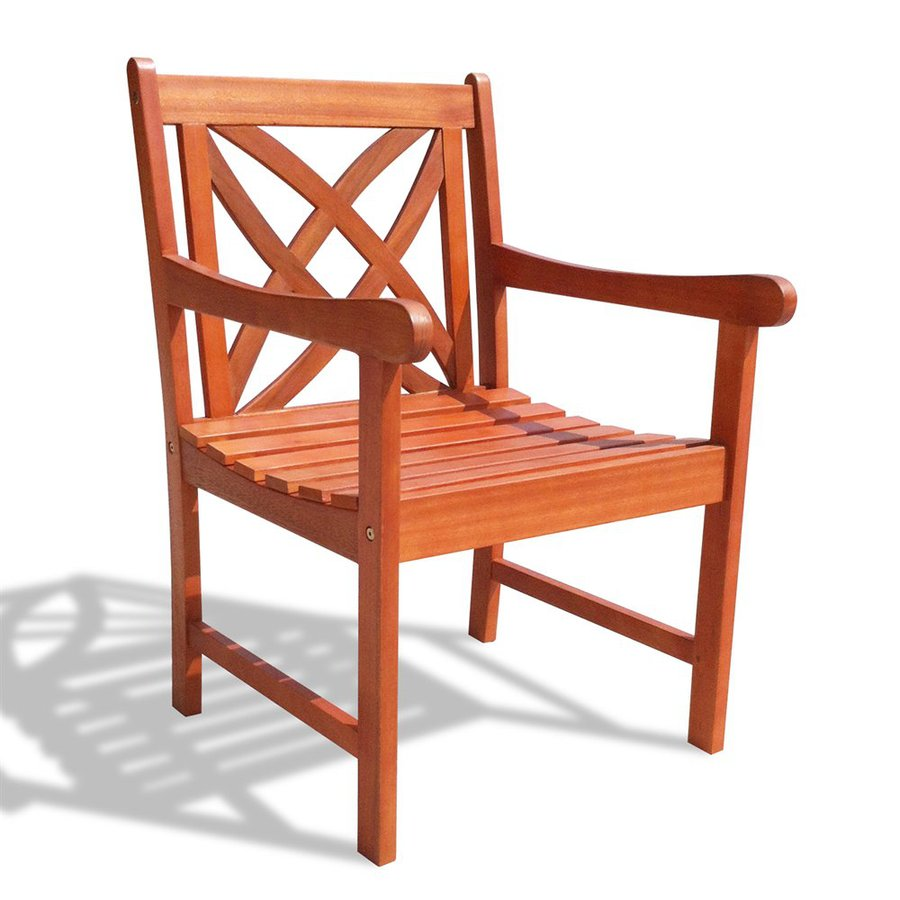 VIFAH Eucalyptus Patio Dining Chair