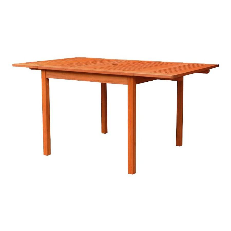 VIFAH 35-in W x 59-in L Rectangle Eucalyptus Dining Table