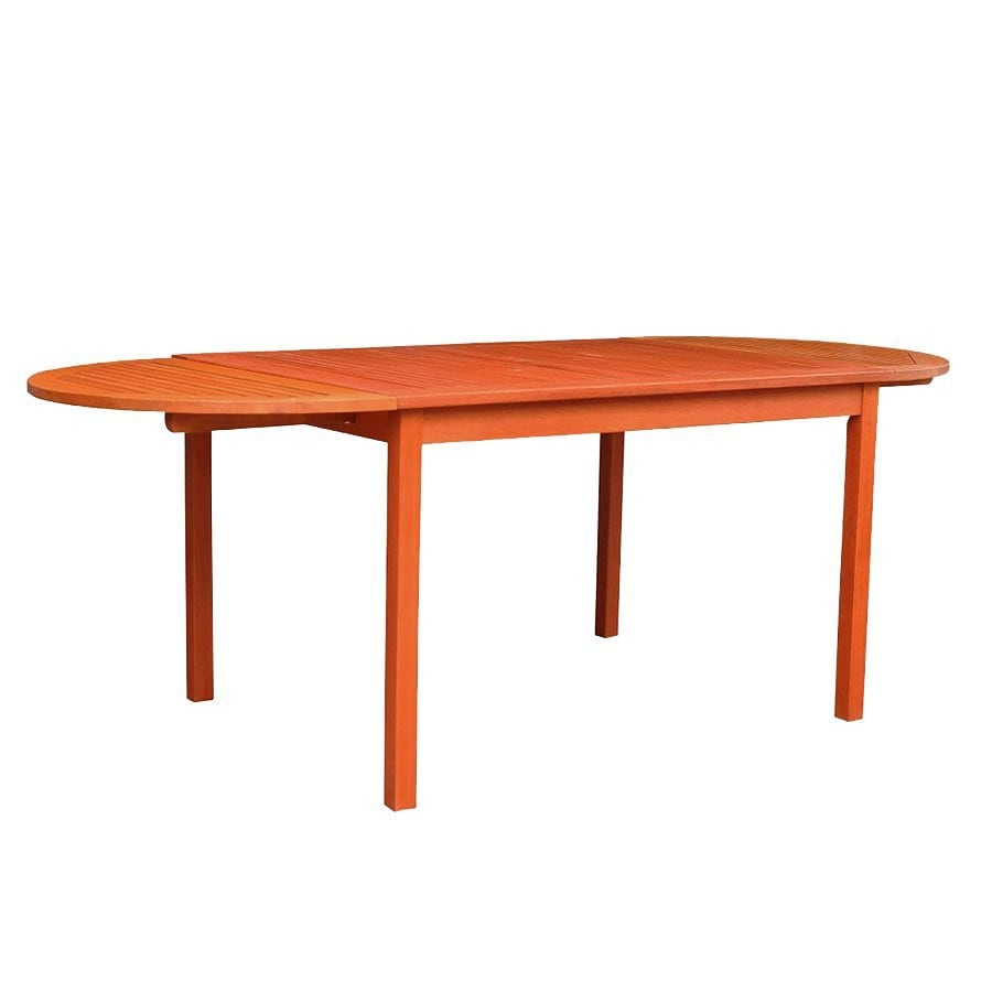 VIFAH 35-in W x 82-in L Oval Eucalyptus Dining Table