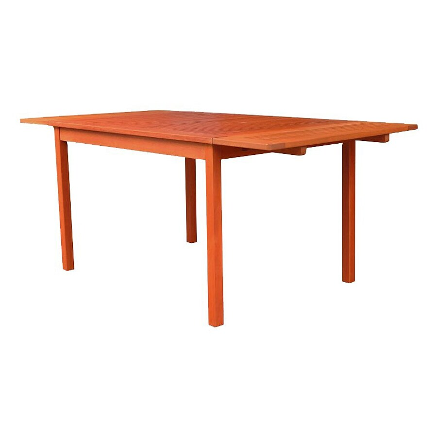 VIFAH 35-in W x 70-in L Rectangle Eucalyptus Dining Table