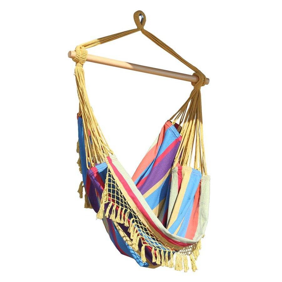 Vivere Brazilian Style Tropical Fabric Hammock Chair