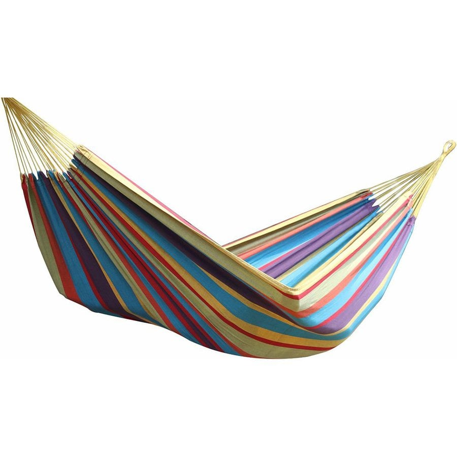 Shop vivere brazilian style tropical fabric hammock at - How to make a cloth hammock ...