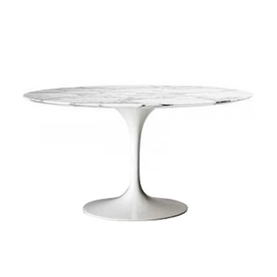 Shop Fine Mod Imports White Marble Round Dining Table At
