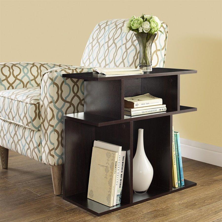 Monarch Specialties Cappuccino (Composite) Rectangular End Table