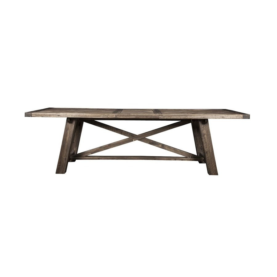 Alpine Furniture Newberry Salvaged Grey Rectangular Dining Table
