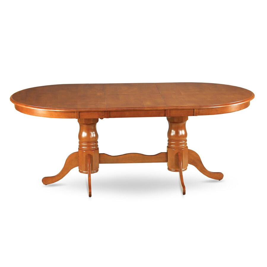 East West Furniture Plainville Saddle Brown Oval Dining Table