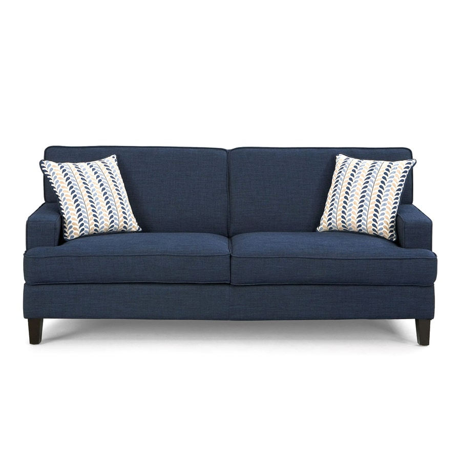 Shop Coaster Fine Furniture Finley Blue Linen Stationary Sofa At