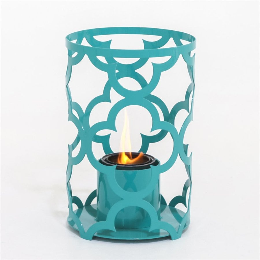 SunJel Mediterranean 12-in Turquoise Metal Fire Pot