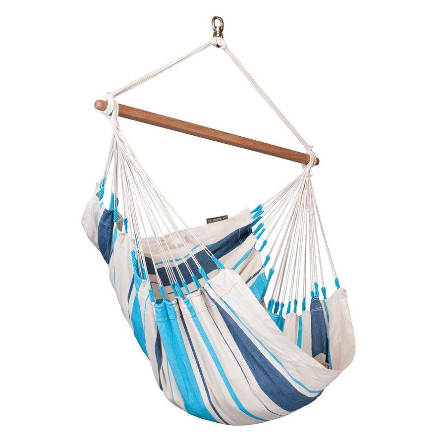 La Siesta Caribea Aqua Blue Fabric Hammock Chair